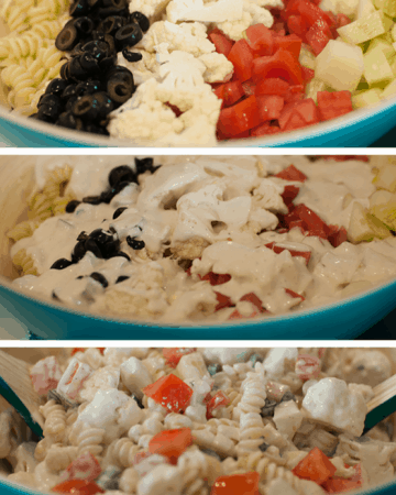 Cauliflower Ranch Summer Salad Pin