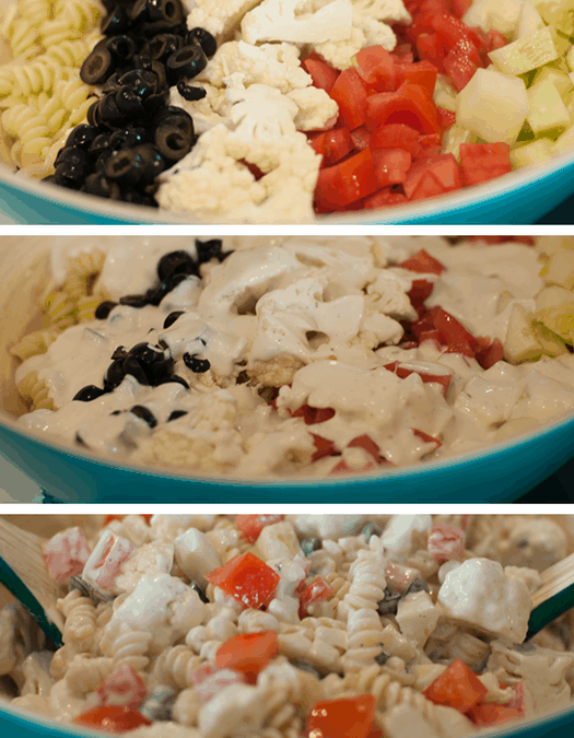 Cauliflower Ranch Summer Salad