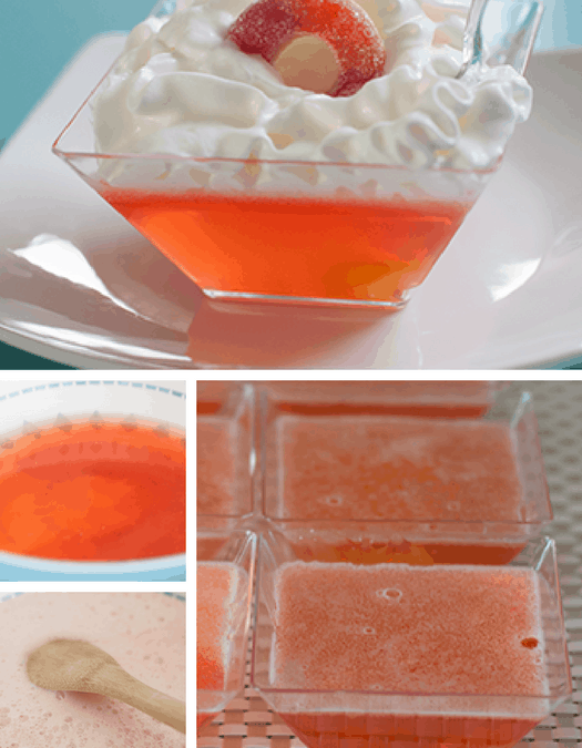 Sparkling Peach-Os and Cream Dessert