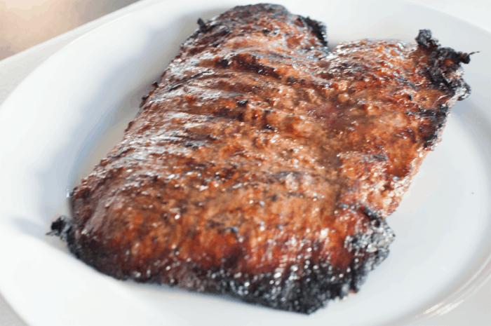 perfect summer dinner - flank steak