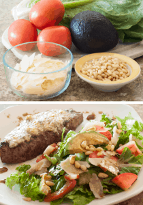 Gorgonzola Steak with Avocado Pine Nut Salad Pin