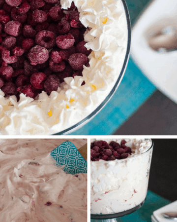 Raspberry Cheesecake Dessert Salad Pin