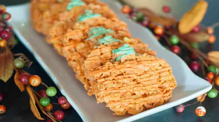 Pumpkin Corn Flake Treats