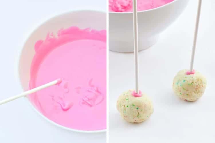 Learn the basics of making cake pops - dip