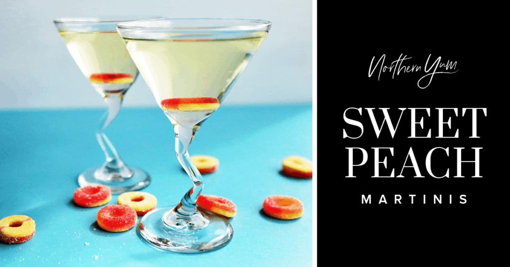 Peach martini recipe sweet peach martinis