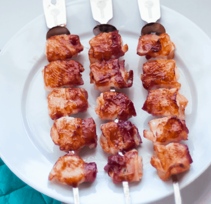 Bacon Wrapped Shrimp Skewers