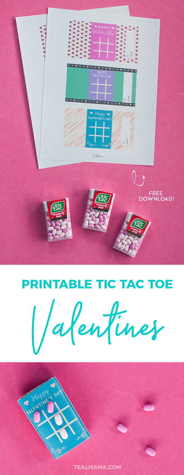 DIY Printable Tic Tac Toe Valentines. Tic Tac Toe Valentines cards are simple & easy. Not to mention so fun and colorful. Great for school and teacher Valentines. Free printable download & how-to. #Valentines #Printable #Valentinesday