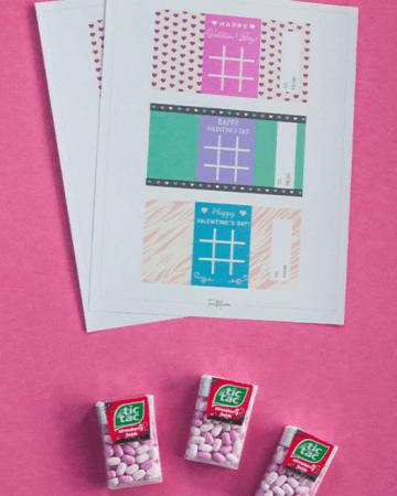 Printable Tic Tac Toe Valentines