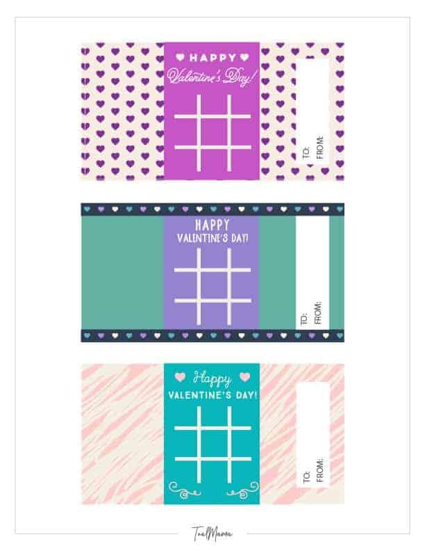 Tic Tac Toe Valentines Printable