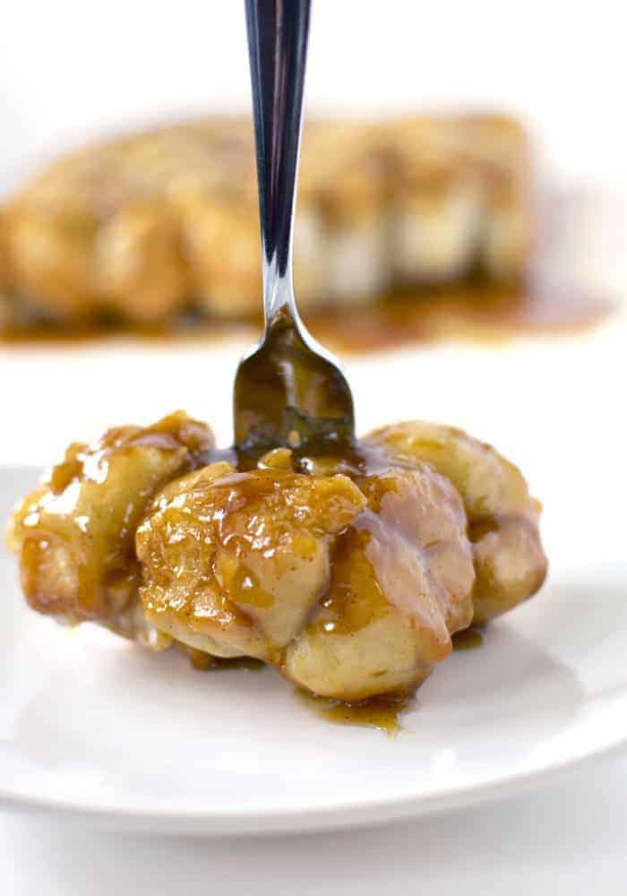 Caramel Roll Pull-Aparts Recipe Fork