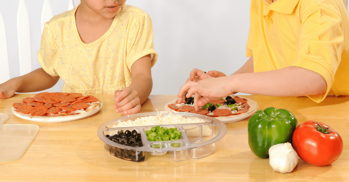 Make homemade pizza and toppings with your kids