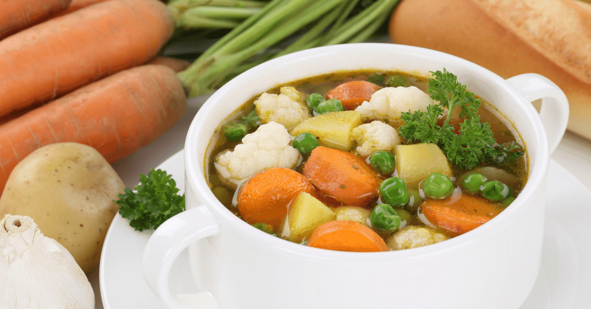 Make vegetable soup with your kids