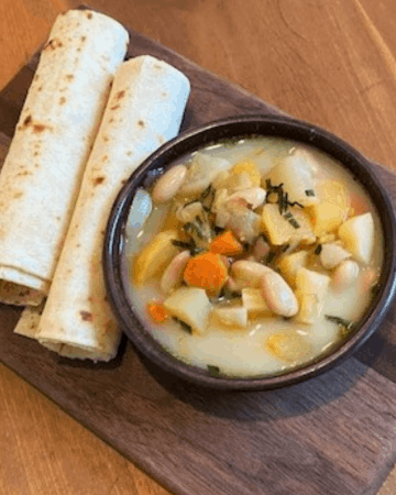 Navy Bean and Root Vegetable Soup