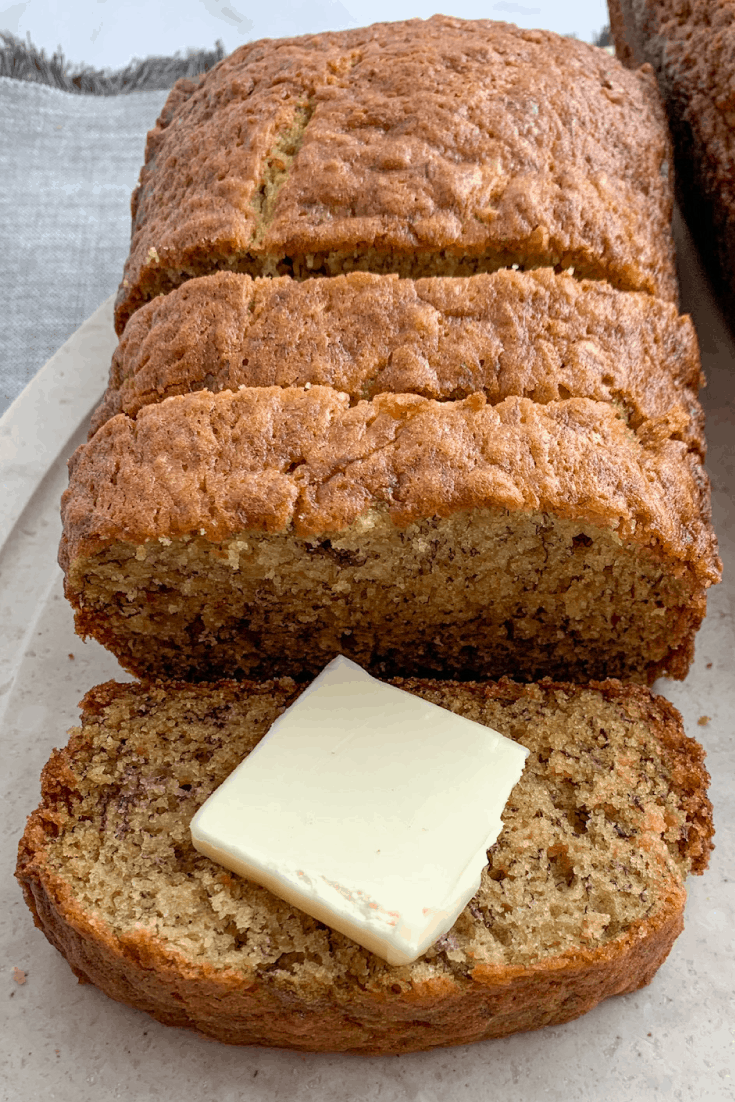 The Best Banana Bread with Butter