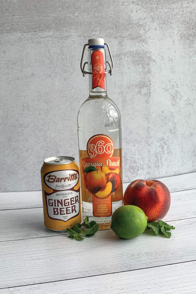 Peach Moscow Mule Recipe Ingredients