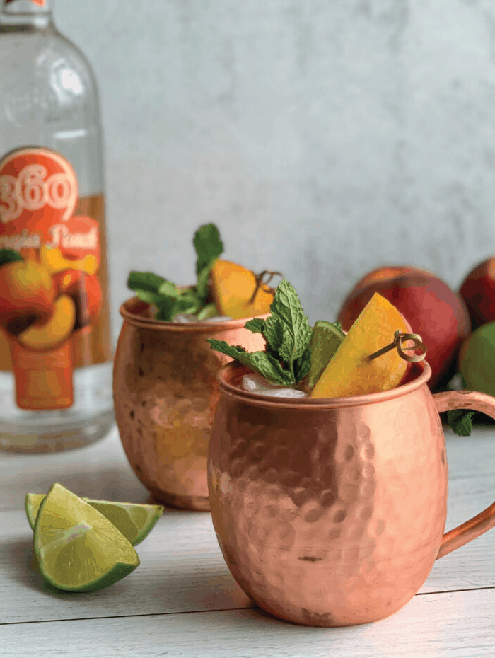 Peach Moscow Mules
