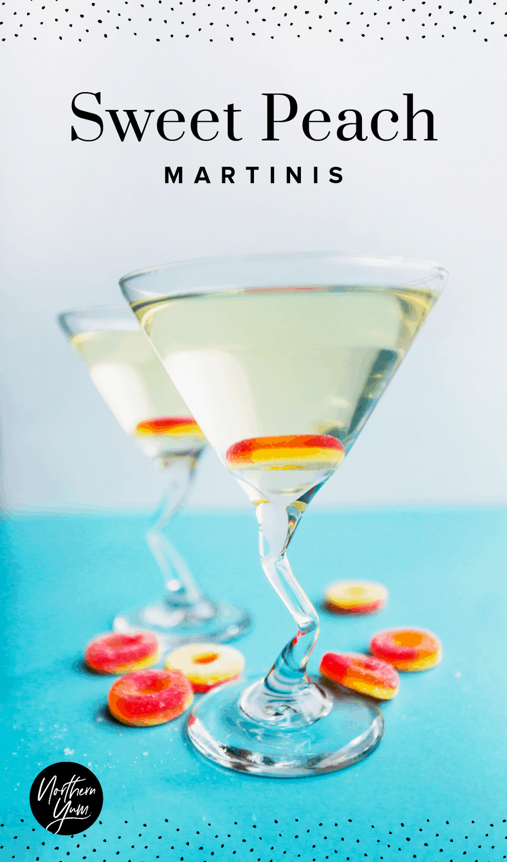 Peach martini recipe sweet peach martinis pin