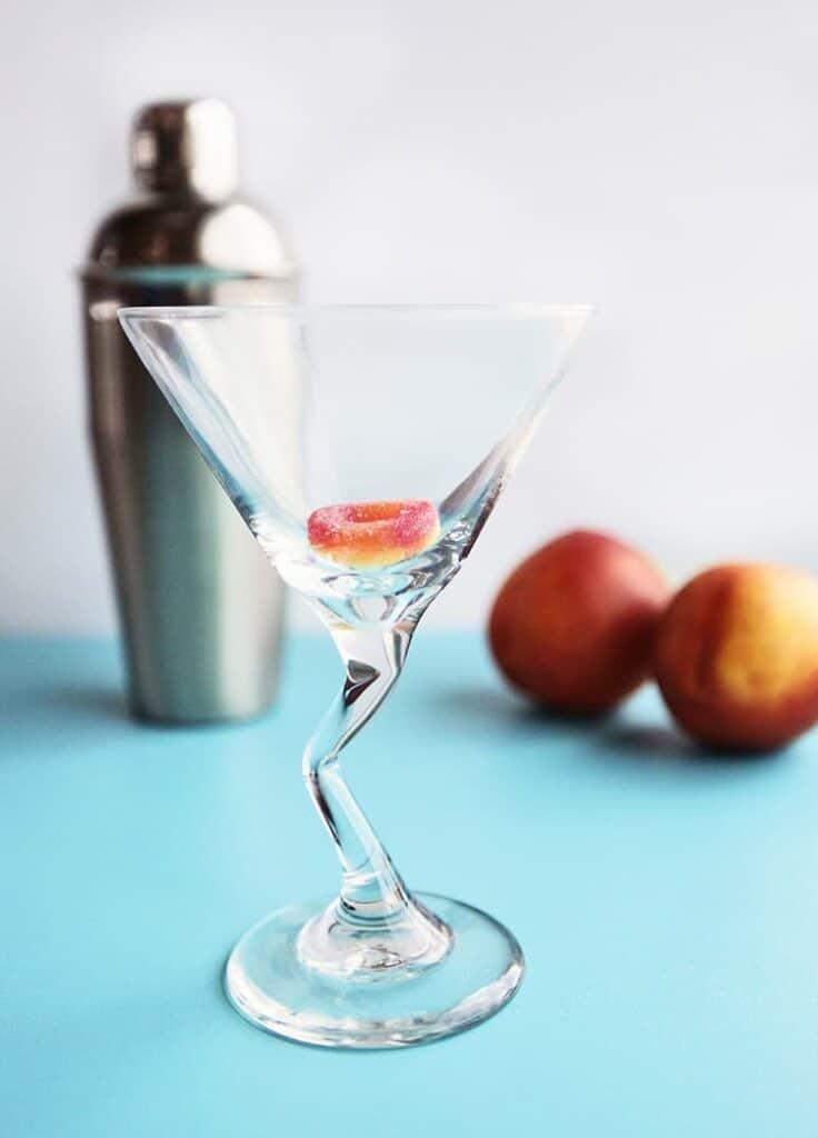sweet peach martinis z stems